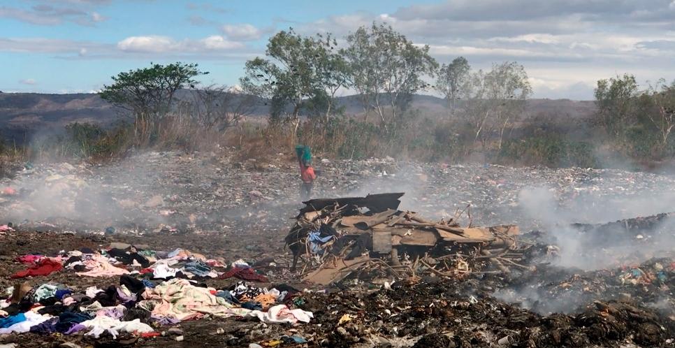 Familias que viven del basurero de Estelí reaccionan ante el coronavirus