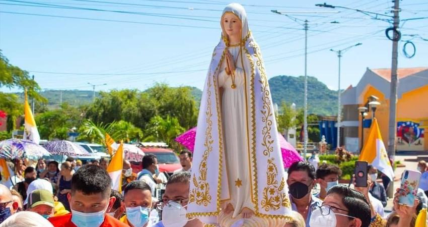 Hasta la fecha la Imagen de la Virgen de Fátima, procedente de Portugal, ha recorrido casi todas las parroquias de la Diócesis de Estelí.