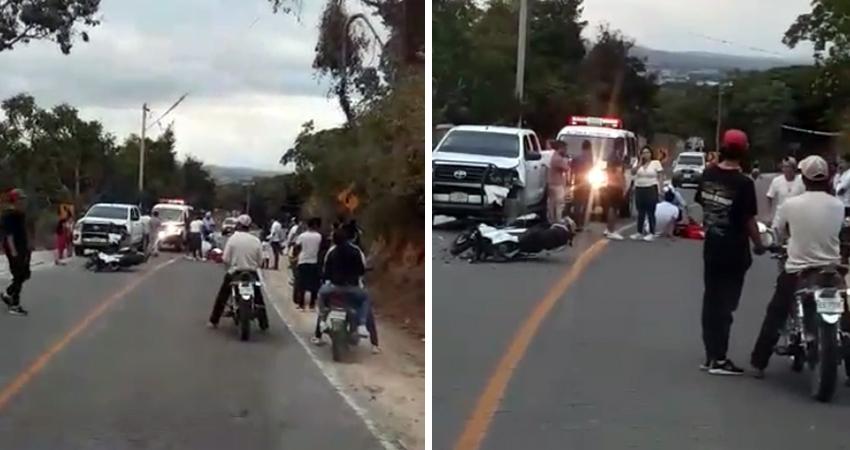 El motociclista resultó con fractura y golpes. Foto de referencia.