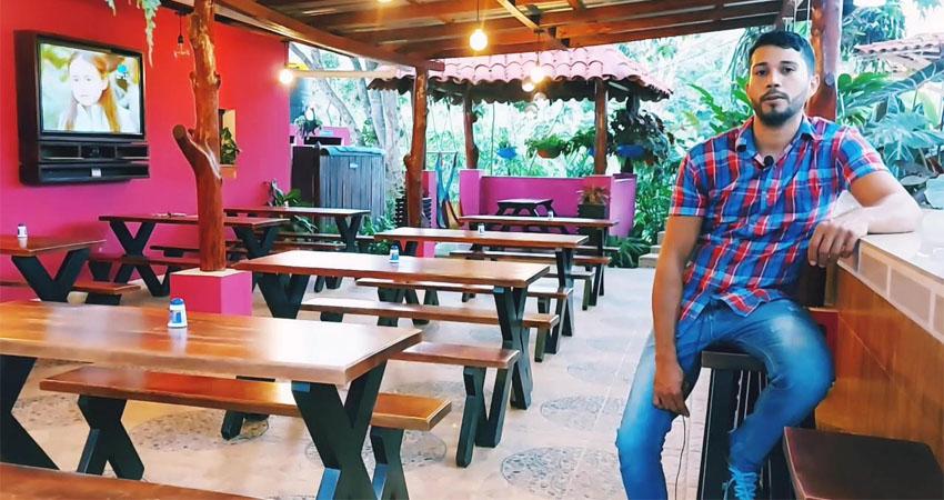 El cielo es el límite. Jorge Cáceres empezó vendiendo por internet pero sus deseos de superación lo motivaron a convertir una finca en un centro turístico ubicado en Quilalí.