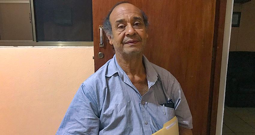 La salud del profesor Jairo Toruño se ha deteriorado en los últimos meses. Foto: Alba Nubia Lira/Radio ABC Stereo