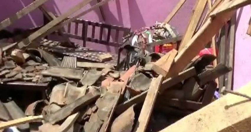 El suceso ocurrió ayer en el barrio Laura Sofía de Ocotal. Foto: Cortesía/Radio ABC Stereo