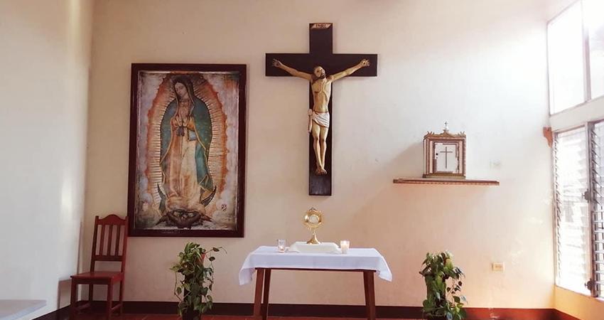 La novena al patrono San Juan Bautista se hizo sin presencia de fieles. Foto: Cortesía