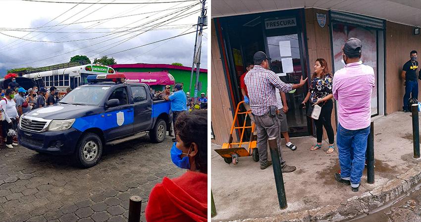 La mujer detenida presenta antecedentes delictivos. Foto: Juan Fco. Dávila/Radio ABC Stereo