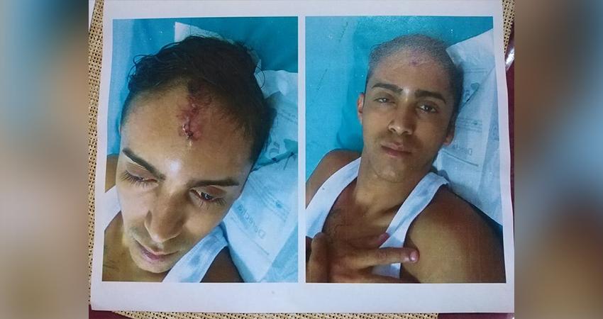 Kevin Oniel Meléndez estuvo hospitalizado el día que ocurrió el robo por el que un agente policial lo estaba señalando. Foto: Cortesía/Radio ABC Stereo
