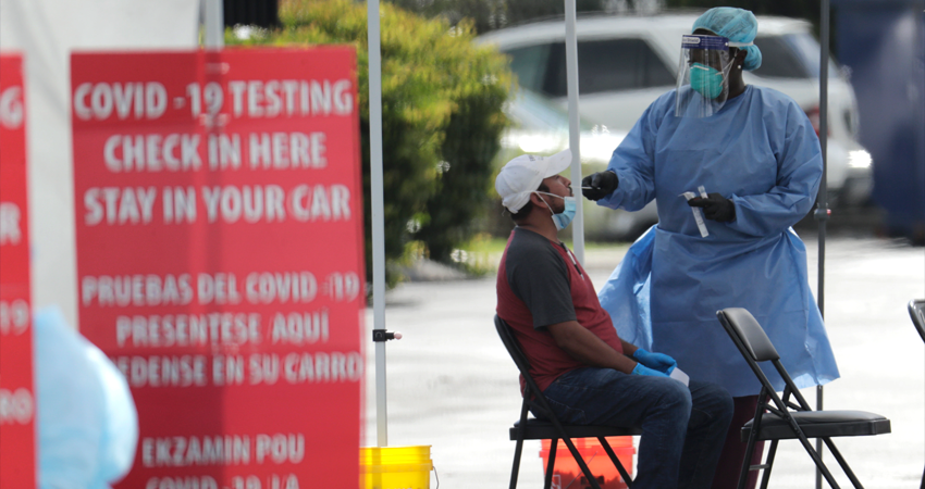 Florida reporta más de 315.000 casos de coronavirus