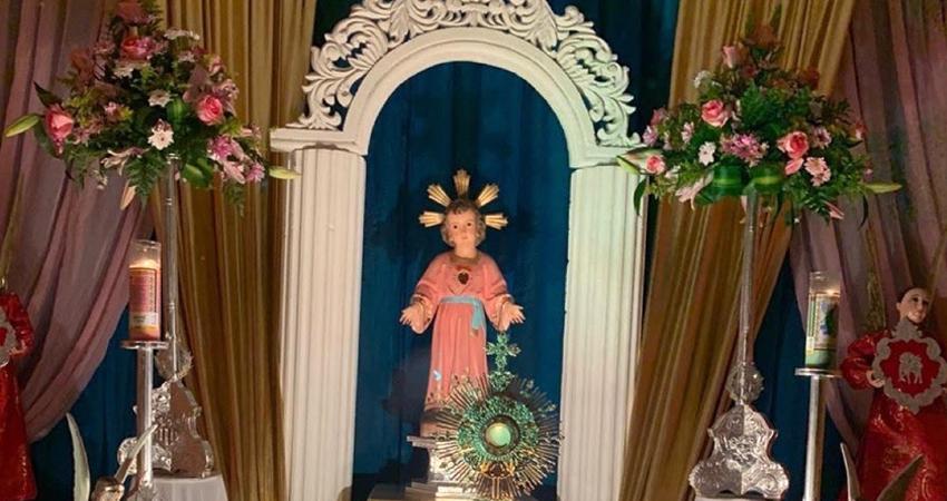 Altar al Divino Niño Jesús. Foto: Cortesía