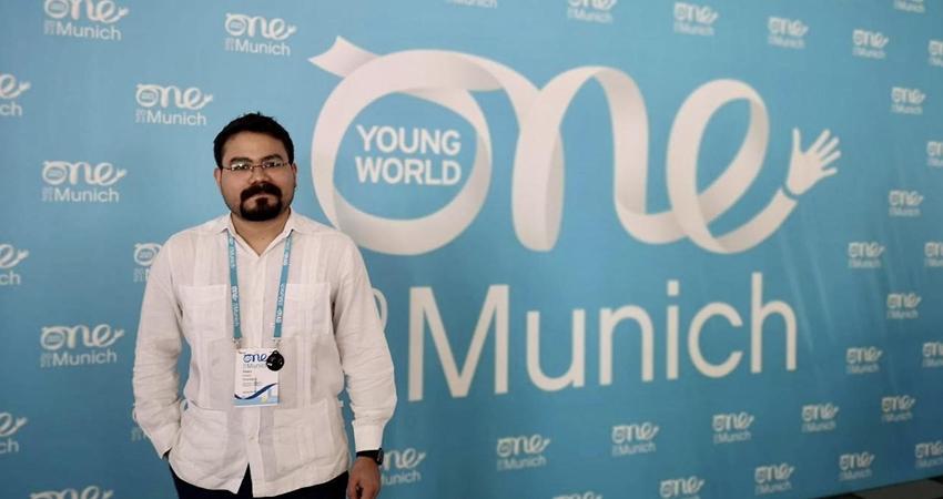 De soñador a Embajador de Paz. Pedro Fonseca viajó hasta Múnich, Alemania, como parte de los jóvenes líderes que buscan crear un impacto positivo en el mundo. Es el único nicaragüense de entre 50 becarios de la Comisión Europea que fue elegido para asistir al evento.