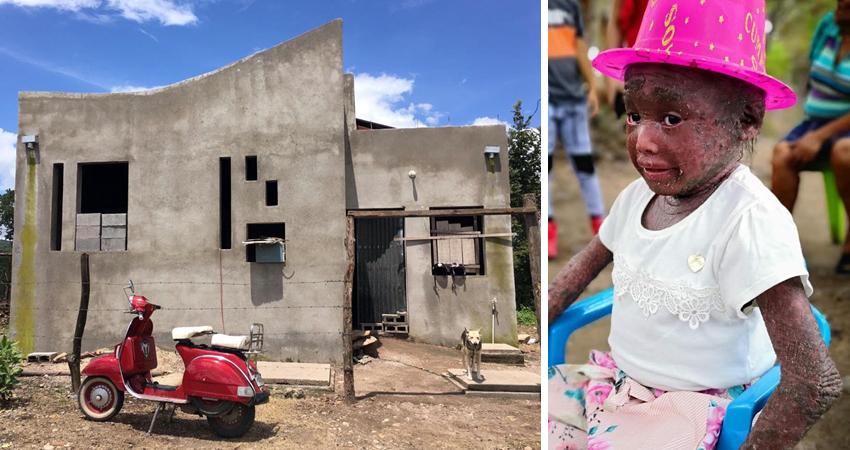 Muy cerca de la meta. Milagritos, la niña esteliana con severa enfermedad en la piel, pronto habitará en una nueva vivienda que ha sido construida con esfuerzo, cariño y solidaridad.