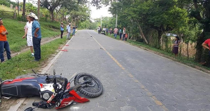 El accidente ocurrió en la comunidad La Piedra. Foto: Cortesía