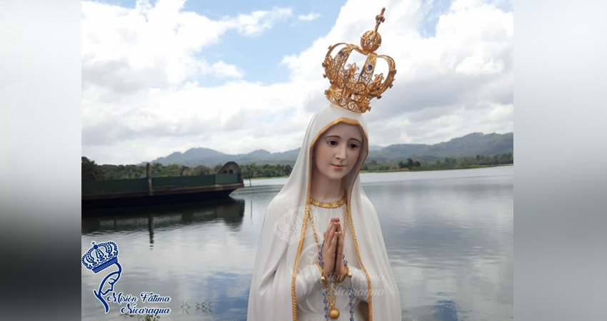 Imagen Peregrina de la Virgen de Fátima. Foto: Misión Fatima Nicaragua