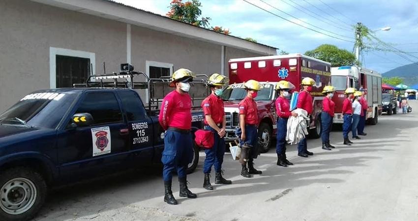 Los bomberos se han coordinado con las instituciones pertinentes ante los efectos que puede causar Eta. Foto: Cortesía