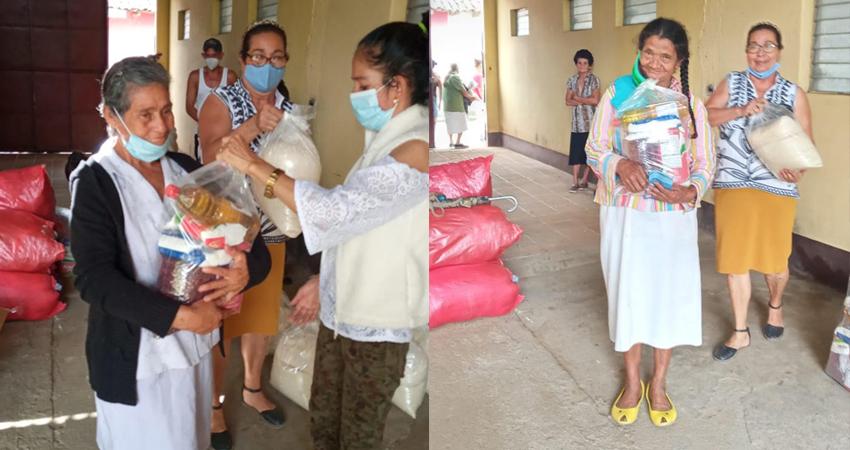 Servir al prójimo es la misión. Paquetes de alimentos fueron entregados a familias que pasan por difíciles momentos.