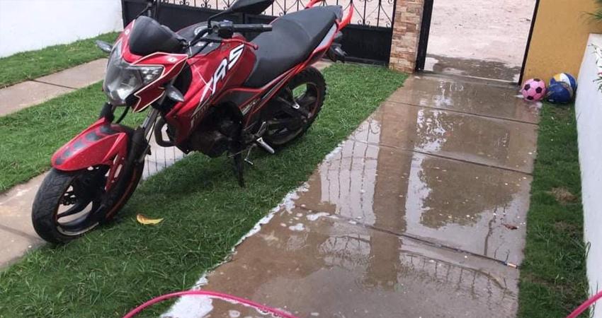 Esta es la motocicleta robada. Foto: Cortesía